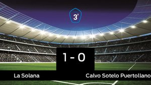Los tres puntos se quedaron en casa: La Solana 1-0 Calvo Sotelo Puertollano