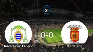 El Madalena consigue al menos un punto en el estadio del Universidad Oviedo (0-0)