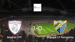 El Madrid CFF ganó 1-0 en su estadio al Málaga