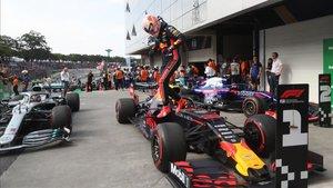 Max Verstappen le dio a Honda la tercera victoria del año en Interlagos