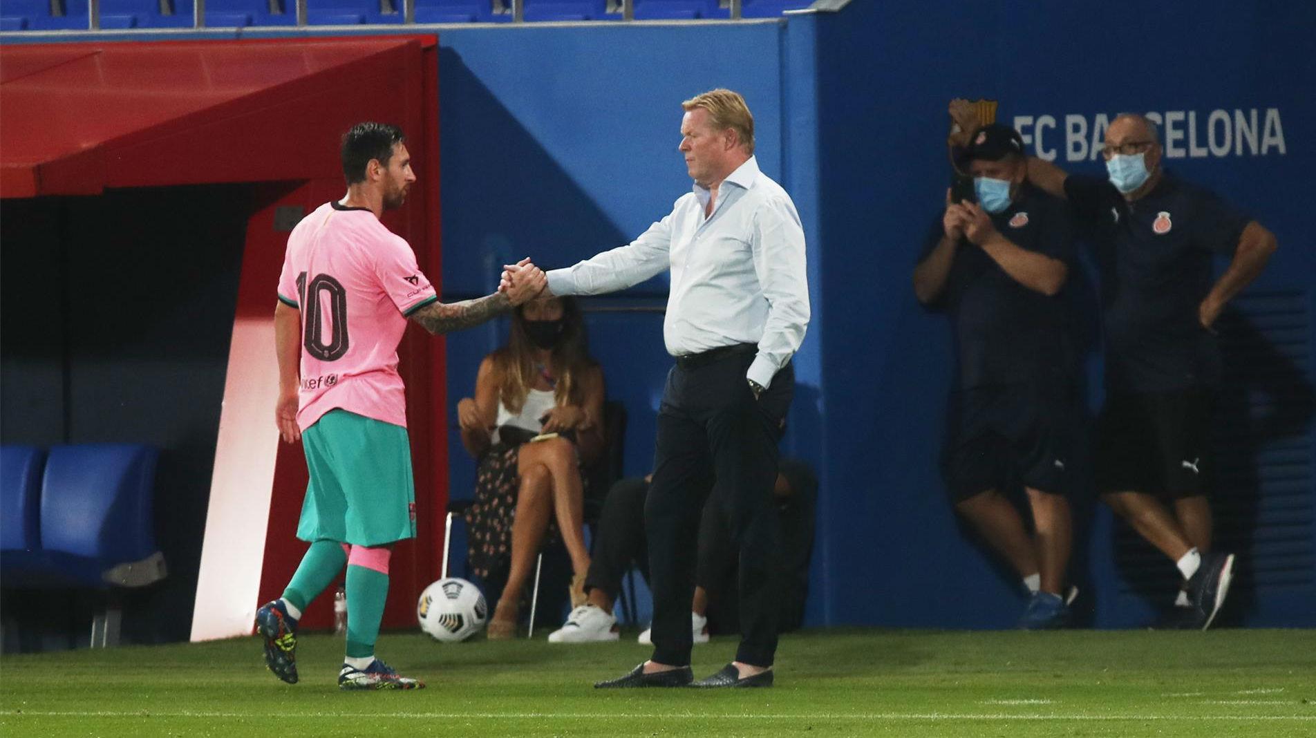El mensaje de Messi a Koeman justo después de ganar a la Juve