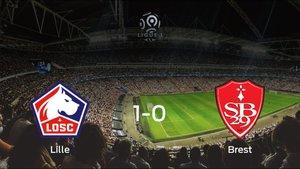 El OSC Lille logra la victoria después de ganar 1-0 al Brest