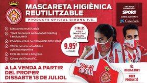 El sábado 18 de julio en tu kiosco con SPORT la mascarilla oficial del Girona FC