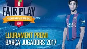 Sergi Roberto, jugador del FC Barcelona, recibirá este lunes el Premi Barça Jugadors