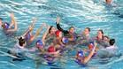 La Sirena Mataró celebró en el agua la tercera plaza en la Copa LEN femenina