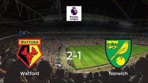 Triunfo del Watford ante el Norwich City (2-1)