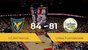 El UCAM Murcia logra la victoria frente al Urbas Fuenlabrada por 84-81
