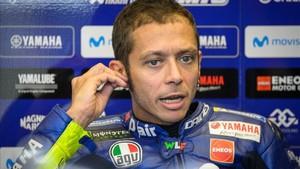 Valentino, tras la primera sesión libre en Austria