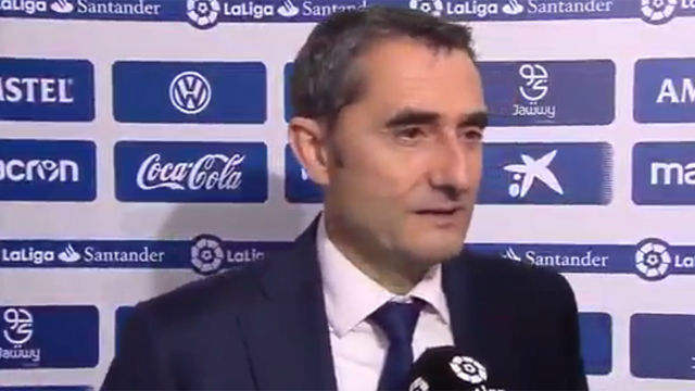 Valverde analizó la primera derrota del FC Barcelona en liga