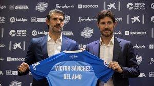 Víctor Sánchez del Amo, el día de su presentación como nuevo entrenador del Málaga