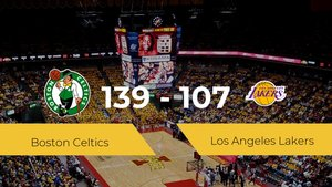 Victoria de Boston Celtics ante Los Angeles Lakers por 139-107