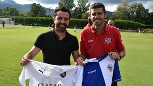 Xavi y Antonio Hidaldo se enfrentaron en la pretemporada