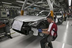Seat 8Cadena de montaje del modelo Ibiza en la fábrica de Martorell.