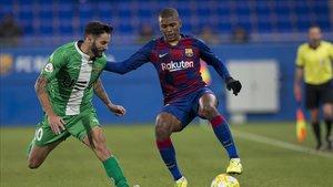 Akieme, protagonista en el Barça B