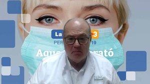El Dr. Antoni Trilla, durante la charla online a las federaciones