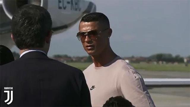 Así ha sido la llegada de Cristiano Ronaldo a Turín