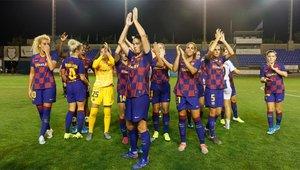 El Barcelona celebra la victoria en Copa Catalunya