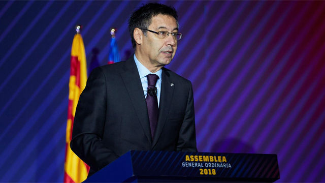 Bartomeu: Mi objetivo para 2019 es que todos los equipos del Barça ganen la Champions