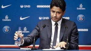 La broma de Nasser al Khelaifi sobre Messi y Barcelona que ha dado la vuelta al mundo
