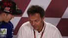 Capirossi y Viñales, en la rueda de prensa de Catar