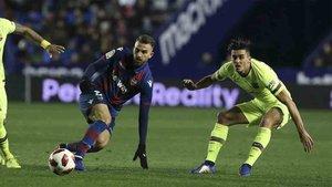 Chumi jugó ante el Levante en la Copa del Rey