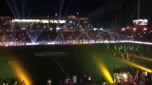 Espectacular ceremonia inicial antes del Catalunya - Venezuela