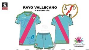 Esta es la tercera equipación del Rayo Vallecano para la temporada 2018/2019