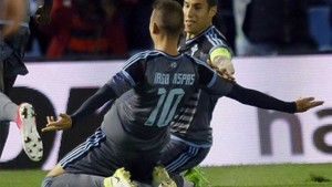 Iago Aspas marcó uno de los tres goles en la ida, y espera volver a ser decisivo