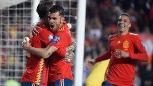 Imagen del partido de España contra Noruega