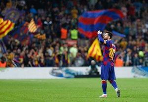 Imágenes del partido entre el FC Barcelona y el Valladolid de LaLiga disputado en el Camp Nou.