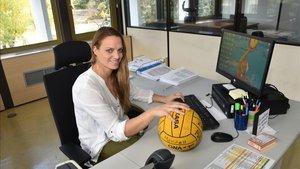 Jenny Pareja en su despacho en el CSD
