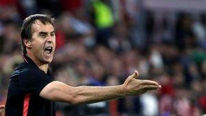 Julen Lopetegui busca la reacción del Sevilla.