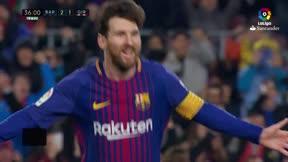 LALIGA | FC Barcelona - Girona (6-1): Messi anotó un gran gol de falta para poner el 3-1