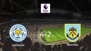 El Leicester Citysuma tres puntos más frente al Burnley (4-2)