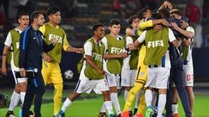 Los hombres del Pachuca celebrando su pase a semifinales