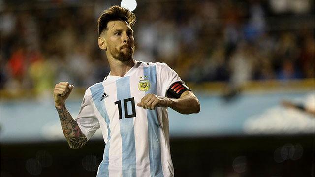 Los tres goles de Leo Messi contra Haití