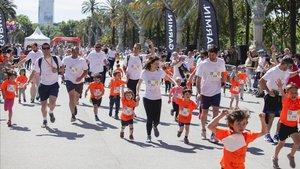 Más de 2.000 participantes se han reunido en el Passeig de Lluís Companys de Barcelona
