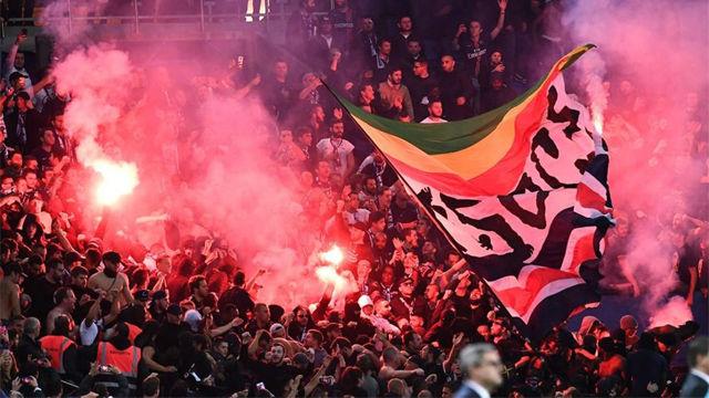 Más de 300 ultras del PSG se enfrentan a la policía