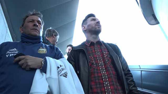 Messi se suma a la concentración de Argentina en Madrid