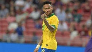 Neymar se puso a cien con la camiseta de Brasil