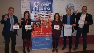 Presentada la IV edición de la Carrera popular para la ELA en el Ajuntament de Sat Adrià