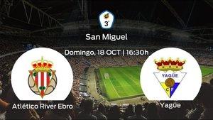 Previa del partido: primer duelo del campeonato para el Atlético River Ebro y el Yagüe