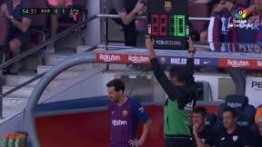 La reacción de Vidal cuando fue sustituido por Messi