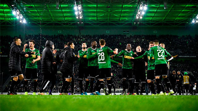 La roma cae ante el Mönchengladbach en el Borussia-Park