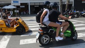 Servicio de motosharing