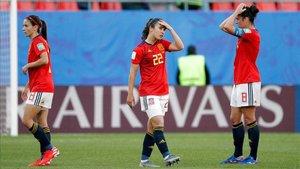 Torrejón se lamenta tras el gol de Alemania