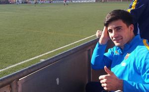 Xemi Fernández vio los últimos minutos del partido desde las gradas
