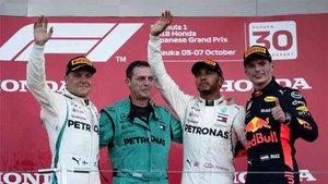 Lewis Hamilton ganó en Japón