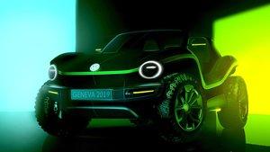 Primeros bocetos del buggy de Volkswagen.
