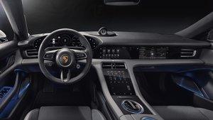 Interior del Porsche Taycan.